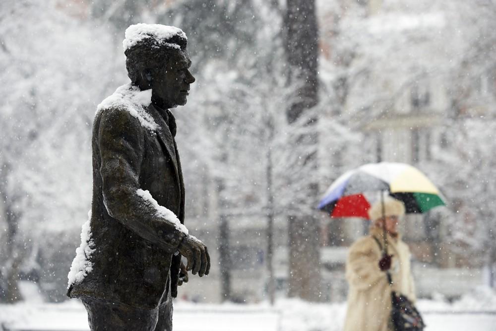 Claude Nougaro sous la neige
